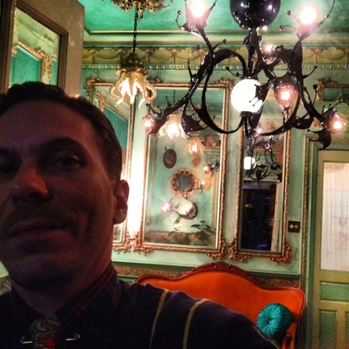 Me in one of the many amazing rooms that Adam has customized... every single inch.