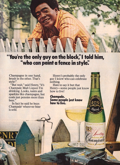Paint your fence in style!!! Drink malt liquor while you work!