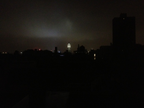 40 blocks of darkness... looking north from my roof.