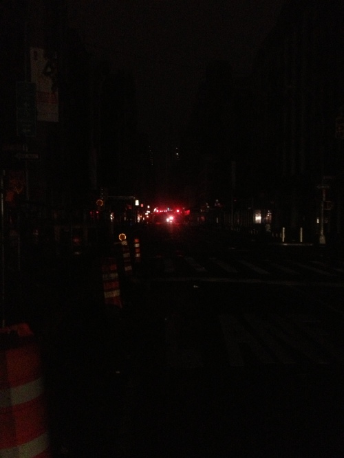This is Broadway in SoHo at Broome looking south.